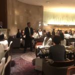 懇親会は場所を変え、セミナー会場近くのホテルヒルトン東京にて行いました。